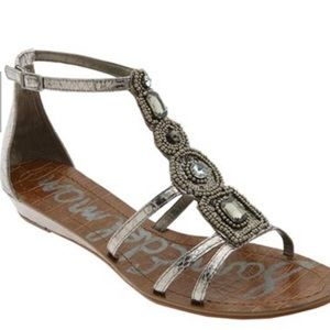 Sam Edelman Daley Beaded Wedge Sandals 9.5